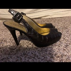 Guess sling back heels